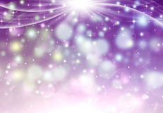 Abstrakt bakgrund med strålar och stjärnor Royaltyfri Bild