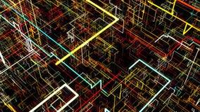 Abstrakt bakgrund med strömkretsen Digital illustration Royaltyfria Foton