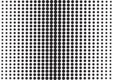 Abstrakt bakgrund med svarta prickar, stil f?r popkonst vektor stock illustrationer