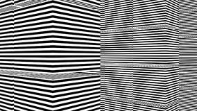 Abstrakt bakgrund med svartvita band Royaltyfri Foto