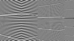 Abstrakt bakgrund med svartvita band Royaltyfri Bild