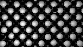 Abstrakt bakgrund med svartvita sfärer royaltyfri illustrationer
