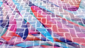Abstrakt bakgrund med tegelstentextur arkivbild