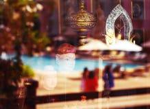 Abstrakt bakgrund med Thailand symboler Arkivfoto