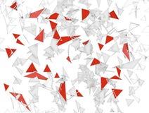 Abstrakt bakgrund med trianglar stock illustrationer