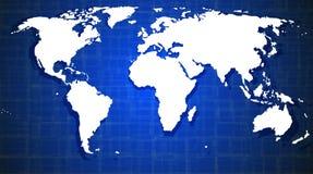 Abstrakt bakgrund med världskartan vektor illustrationer