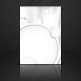 Abstrakt bakgrund med vitbokcirklar Arkivbilder