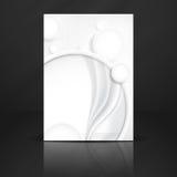 Abstrakt bakgrund med vitbokcirklar Royaltyfria Foton