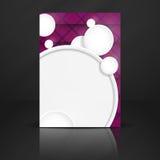 Abstrakt bakgrund med vitbokcirklar Royaltyfria Bilder