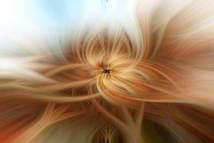 Abstrakt bakgrund med vriden effekt för ljusa fibrer Arkivfoto