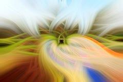 Abstrakt bakgrund med vriden effekt för ljusa fibrer Royaltyfri Bild