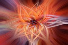 Abstrakt bakgrund med vriden effekt för ljusa fibrer Arkivfoton