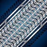 Abstrakt bakgrund, metallisk blå broschyr, vektor Arkivbild