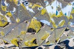 Abstrakt bakgrund på metall Royaltyfri Bild