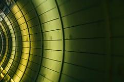 Abstrakt bakgrund, paneltextur i tunnel Arkivfoto