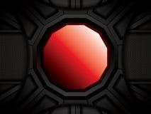 Abstrakt bakgrund, röd broschyr Arkivbild