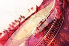 abstrakt bakgrund Skivtallrikcloseup Royaltyfri Foto