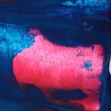 abstrakt bakgrund Slaglängder för målarfärgborste med grova kanter Färgborsteillustration Royaltyfri Bild