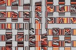 Abstrakt bakgrund som består av många olika geometriska former Royaltyfria Bilder