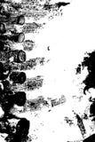 Abstrakt bakgrund som göras av brända journaler med den detaljerade grafiska strukturen svart white Royaltyfri Bild