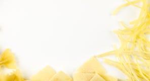 Abstrakt bakgrund som göras av pasta Royaltyfri Fotografi