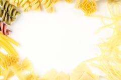 Abstrakt bakgrund som göras av pasta Arkivfoto