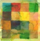 abstrakt bakgrund squares vattenfärg Royaltyfri Bild