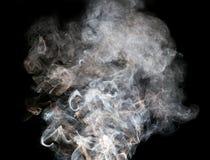 abstrakt bakgrund svart rök för bakgrund Arkivbilder