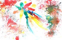 abstrakt bakgrund tecknad handvattenfärg Arkivbild