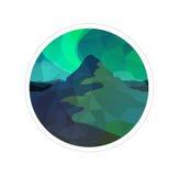 abstrakt bakgrund tänder den nordliga vektorn Royaltyfri Foto
