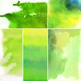 abstrakt bakgrunder ställde in vattenfärg Royaltyfri Foto