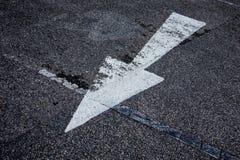 Abstrakt bakgrundsadressväg med pilen och symboler Fotografering för Bildbyråer