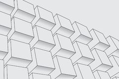 abstrakt bakgrundsaskar Modern teknologi med det fyrkantiga ingreppet geometriska linjer Kubcell vektor illustrationer