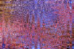 Abstrakt bakgrundsbild, mångfärgade linjer och band, oväseneffekter Royaltyfri Foto