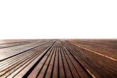 Abstrakt bakgrundsbild med det tomma trägolvet på hamnen nära Royaltyfria Bilder