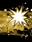 abstrakt bakgrundsblackyellow royaltyfri illustrationer