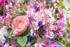 abstrakt bakgrundsblommor Royaltyfria Bilder