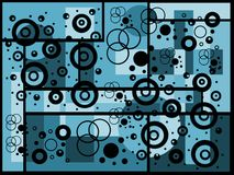 abstrakt bakgrundsblue Stock Illustrationer