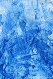 abstrakt bakgrundsbluevattenfärg Arkivfoto