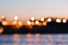 abstrakt bakgrundsbokehlampor Royaltyfria Bilder