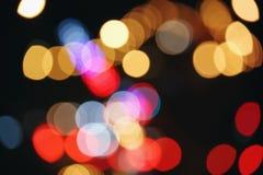 abstrakt bakgrundsbokehlampor Royaltyfria Foton