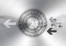 abstrakt bakgrundscirkelteknologi Royaltyfri Fotografi