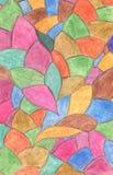 abstrakt bakgrundscrayon Garneringdesignbeståndsdel akvareller för drawhandpapper Royaltyfri Bild