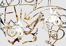 abstrakt bakgrundsdesign stock illustrationer