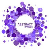 abstrakt bakgrundsdesign Cirkelramar Färgrikt baner Arkivbild