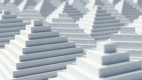 Abstrakt bakgrundsdesign för pyramider 3D Royaltyfria Bilder