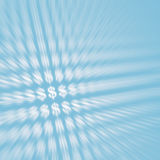 abstrakt bakgrundsdollarsymboler Royaltyfri Fotografi