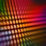 abstrakt bakgrundsdollarsymboler Arkivbild