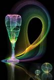 abstrakt bakgrundsexponeringsglas Arkivbilder