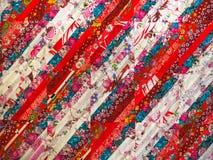 abstrakt bakgrundsfärg Handgjord prydnad för patchwork Royaltyfri Bild